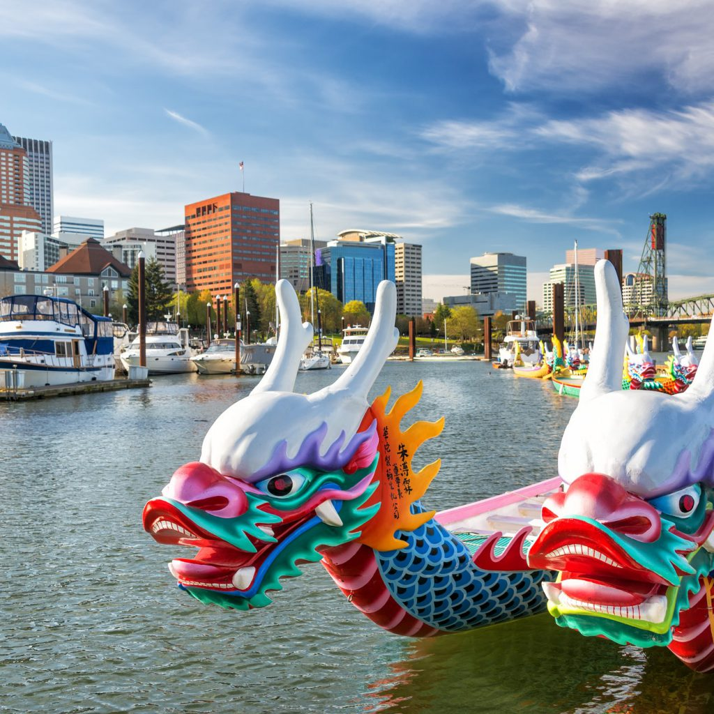 Dragon Boats and Downtown Portland