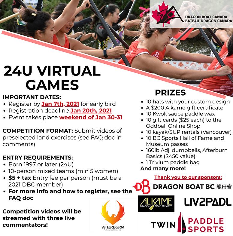 1st Dragon Boat Canada 24U Virtual Games
