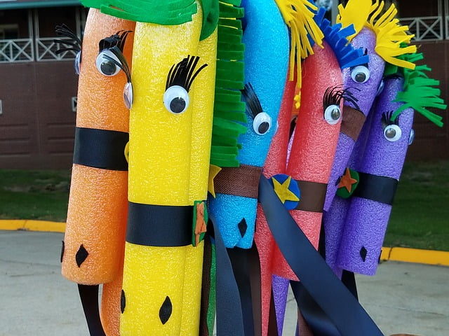 Get creative decorating pool noodles